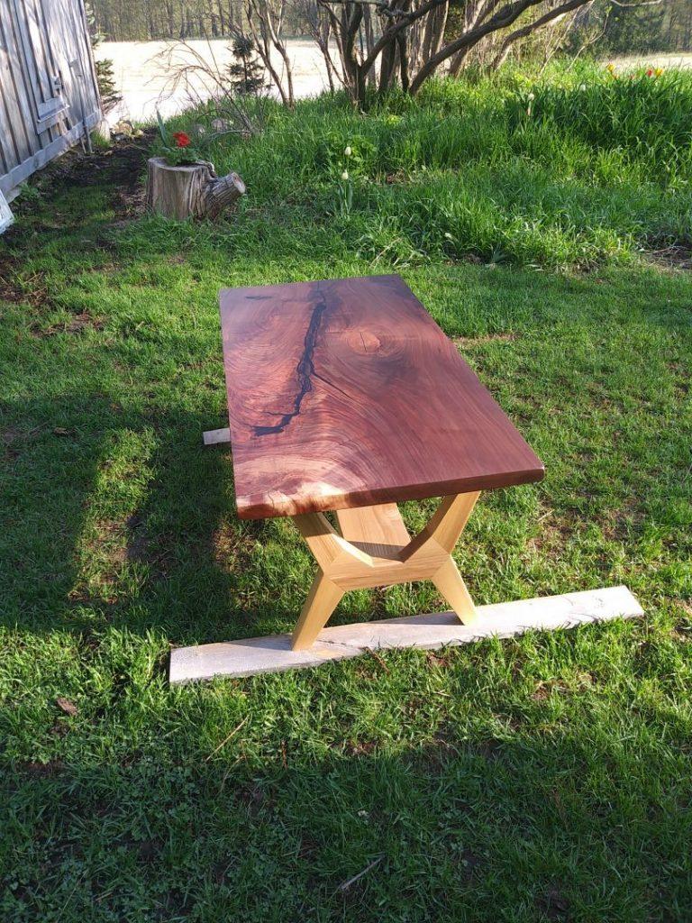 Modern Walnut and Ash Coffee Table