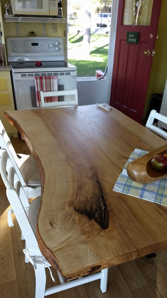 Live Edge Ash Kitchen Table