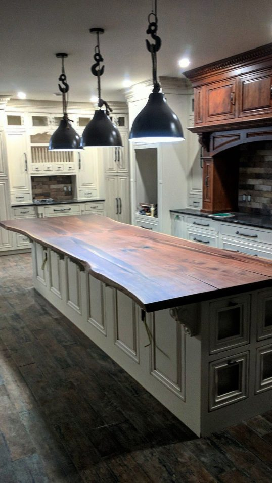Live Edge Black Walnut Kitchen Island