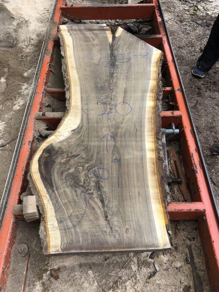 Edge Black Walnut Wood Slab