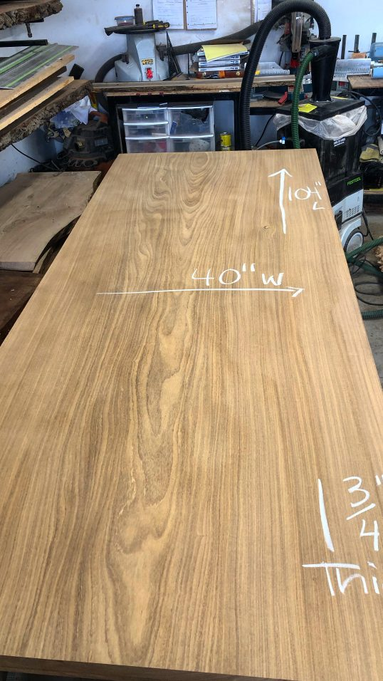 Afromasia Table Wood Slab